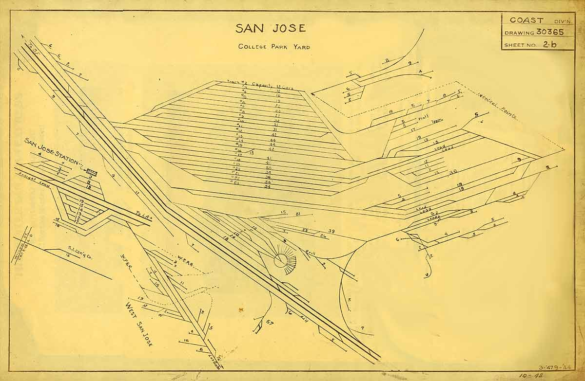 Timetables and Maps Southern Pacific in San Jose