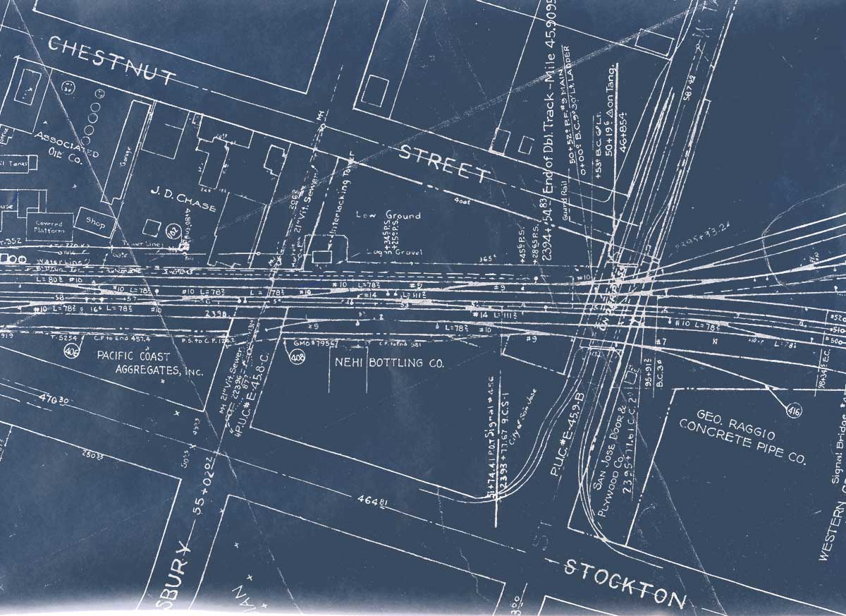 Southern pacific san jose area maps 1958nh2cp05g west end of college park yard roundhouse 1958nh2cp06g central college park yard roundhouse malvernweather Images