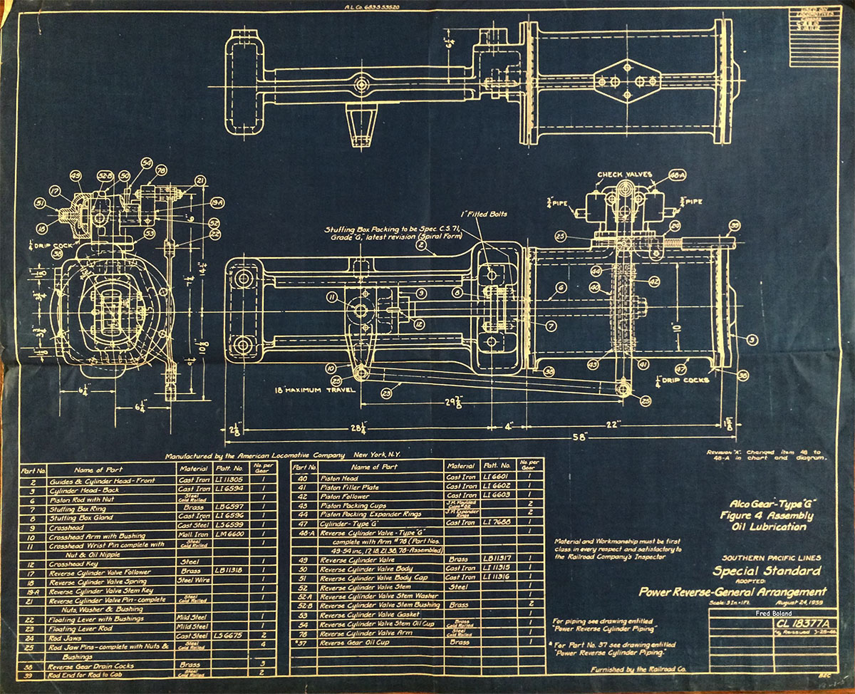 Southern Pacific Steam Locomotive Blueprints Rescued By